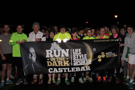 official Pop up event for the World wide Run in the Dark for the Mark Pollock foundation.