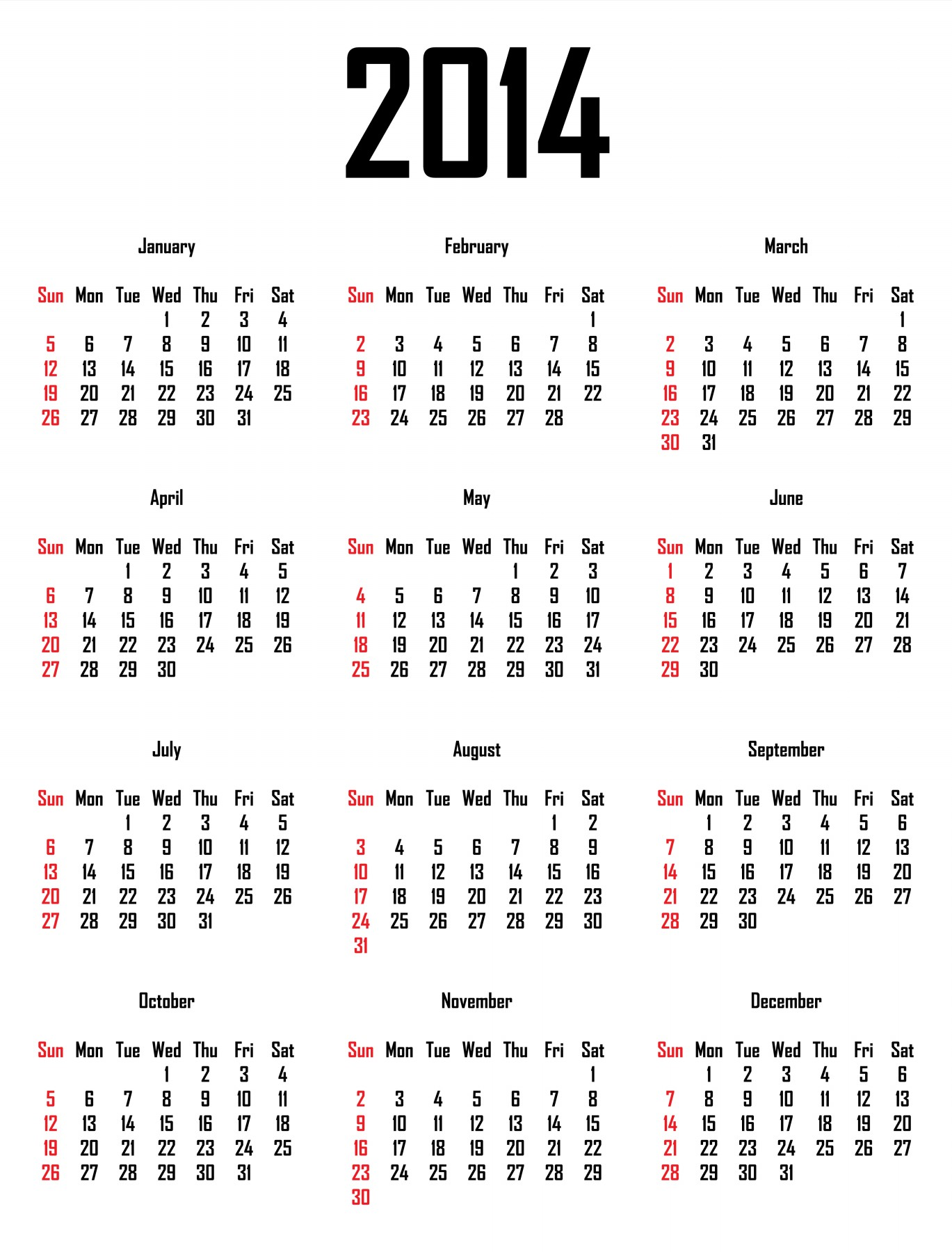 Pto Calendar Template