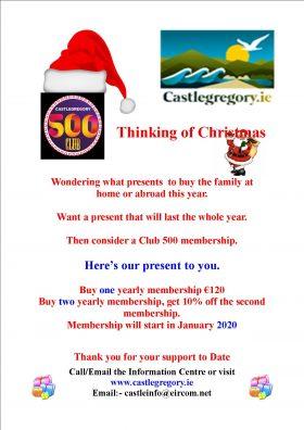 Christmas Club 500