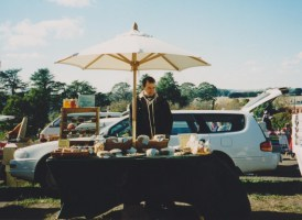 Russell at our very first market stall