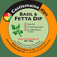 Castlemaine Dips gluten-free vegetarian basil and fetta dip