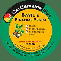 Castlemaine Dips gluten-free vegetarian basil and pinenut pesto