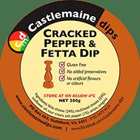 Castlemaine Dips gluten-free vegetarian cracked pepper and fetta dip