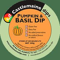 Castlemaine Dips gluten-free vegetarian dairy-free pumpkin basil dip