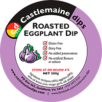 Castlemaine Dips gluten-free vegetarian dairy-free roasted eggplant dip