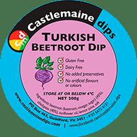 Castlemaine Dips gluten-free vegetarian dairy-free turkish beetroot dip