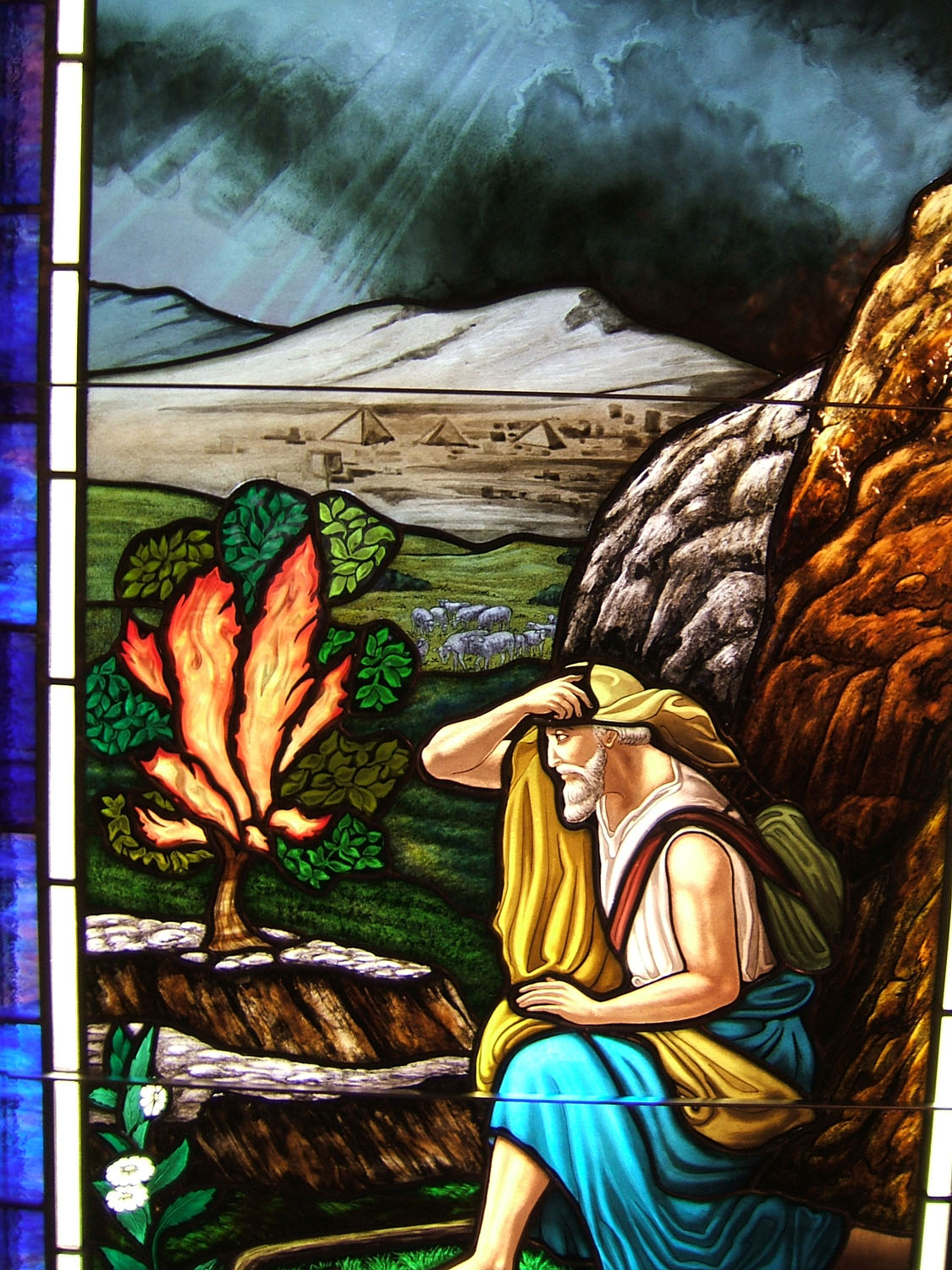 Moses Burning Bush Stained Glass Castle Studio Stained Glass