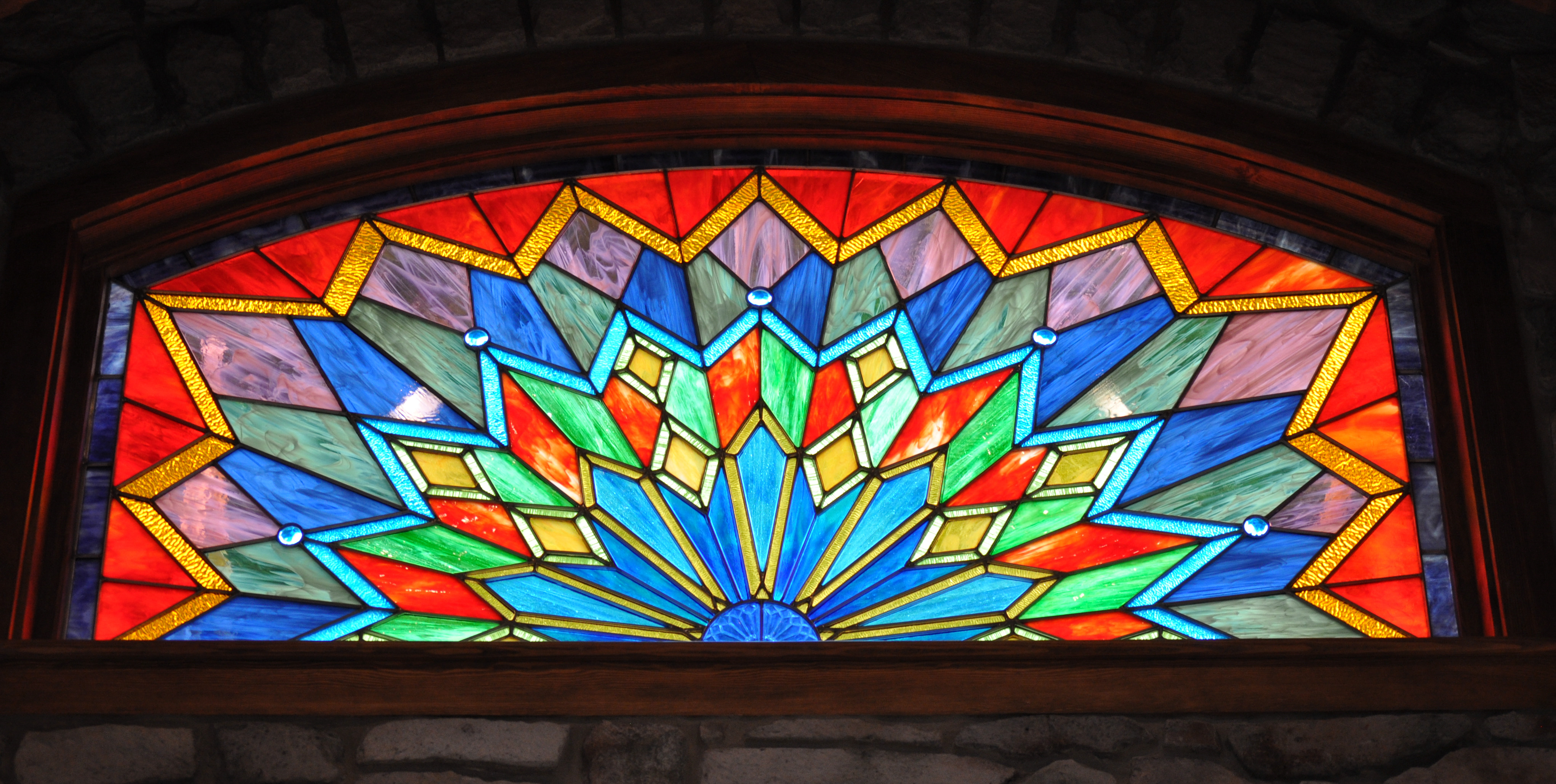 Residential Modern Stained Glass Castle Studio Stained Glass