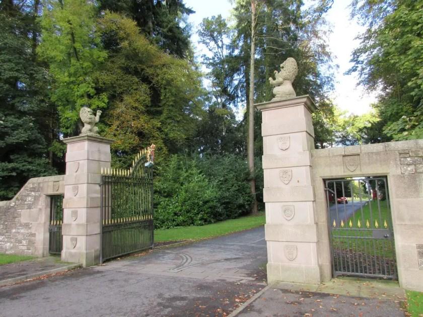 Entrance to Glamis Castle