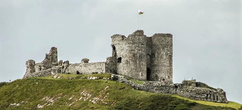 The ruins of Criccieth Castle