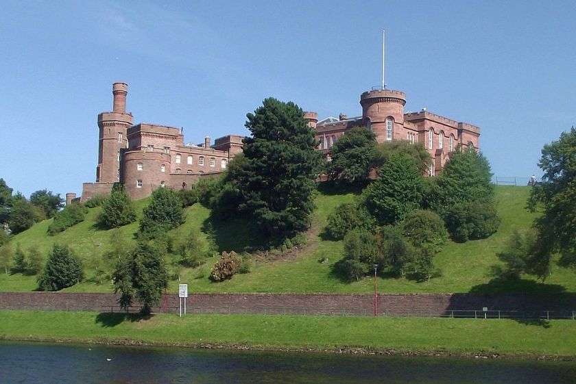 Inverness Castle from across the river