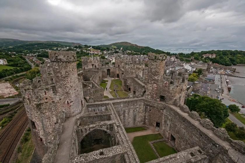 Conwy Castle ruins