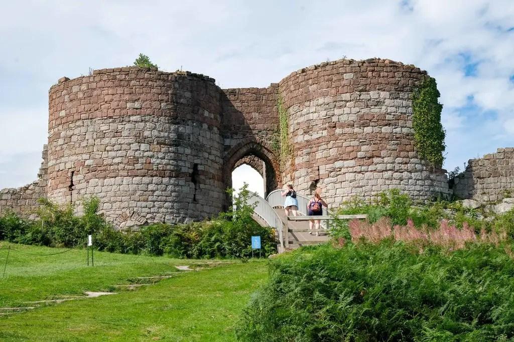 Beeston Castle bridge and defensive towers