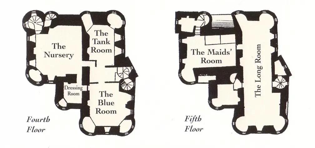 Floor plans of Craigievar Castle