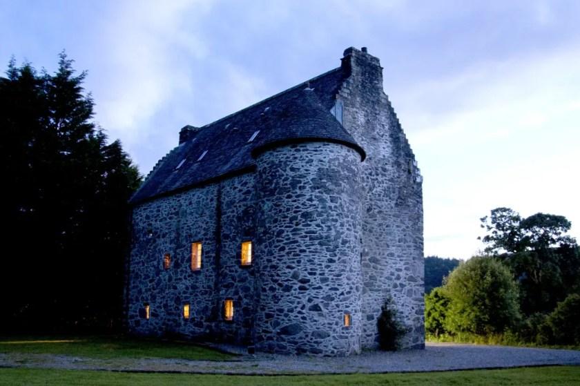 Kilmartin castle at dusk