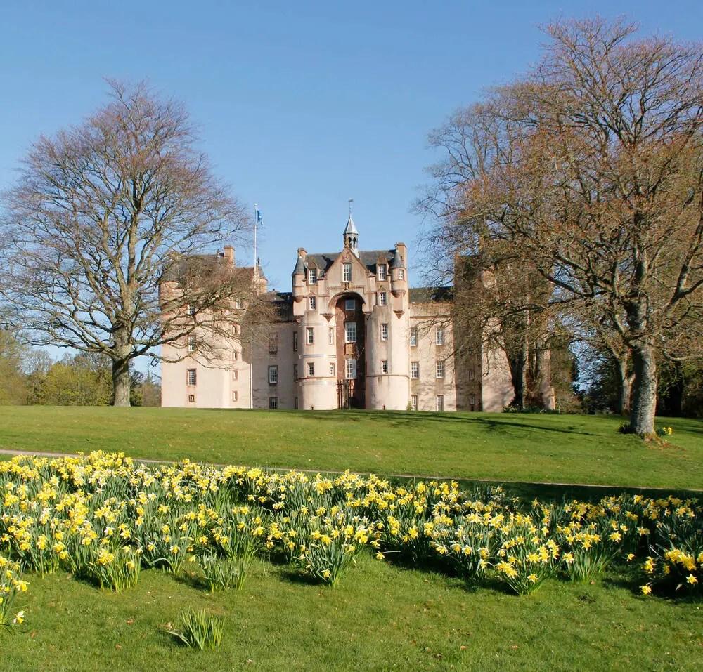 fyvie castle on a sunny day