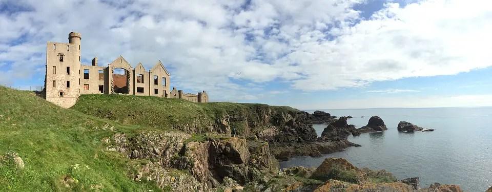 Panoramic shot of New Slains Castle
