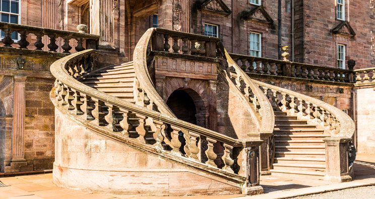 staircase at drumlanrig castle