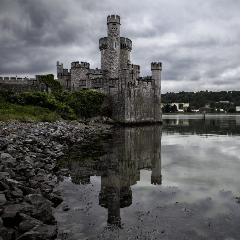 Blackrock castle with reflection in water