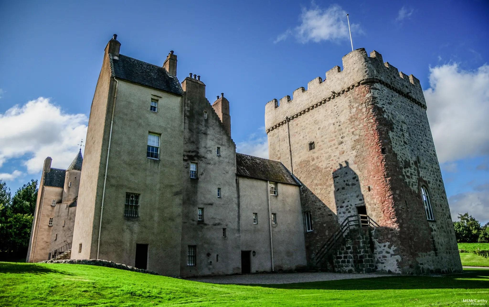 Drum Castle walls