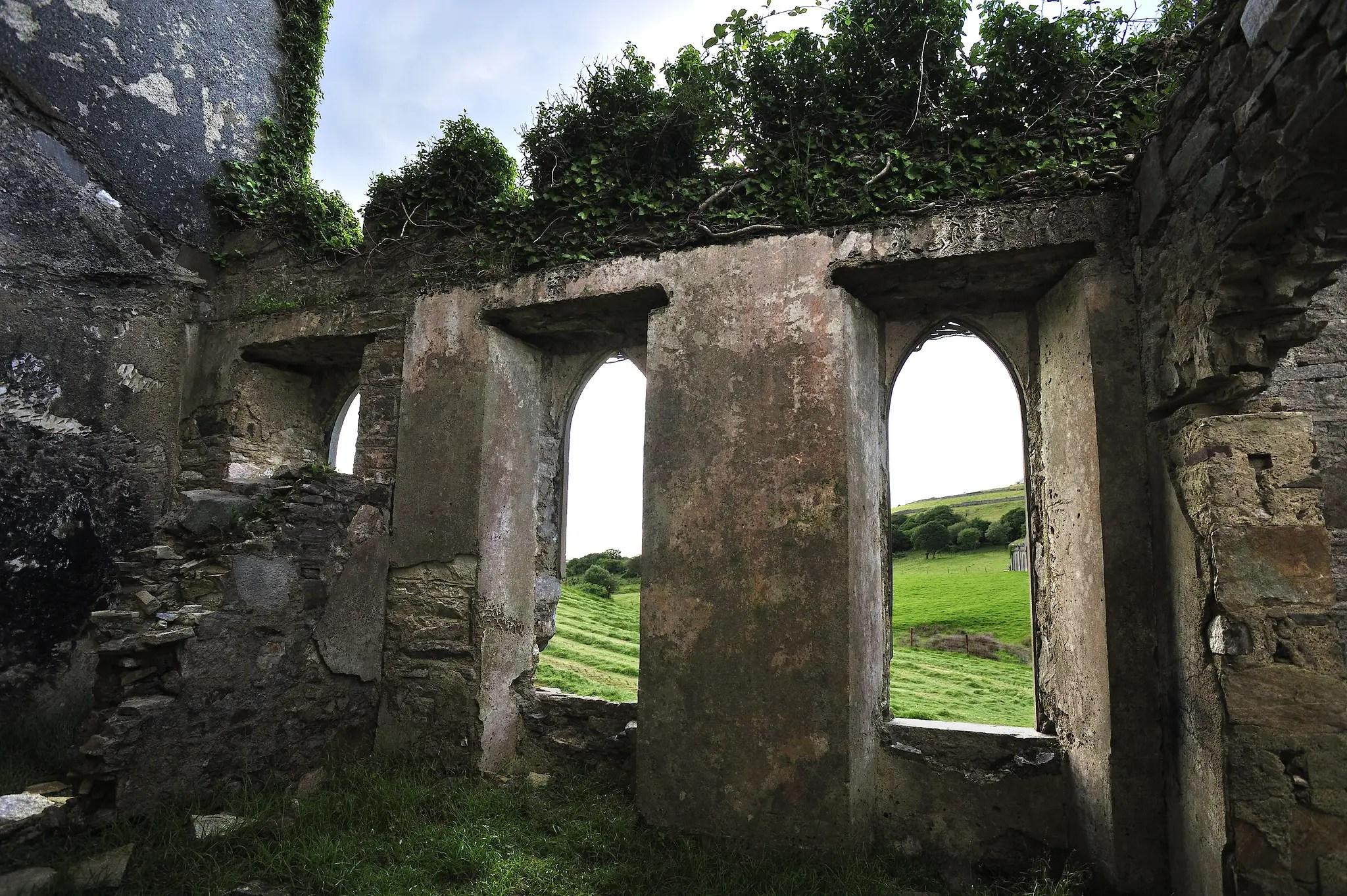 Inside Clifden Castle