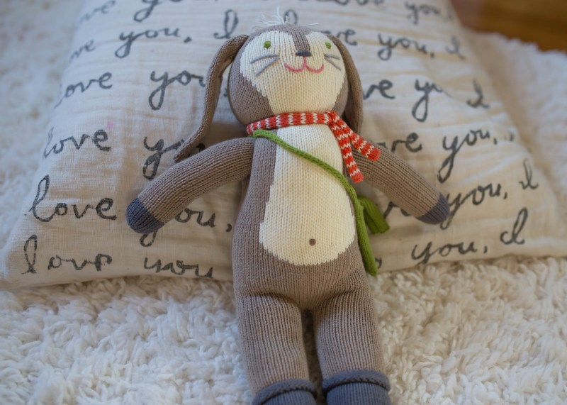 blabla kids knit stuffed doll Pierre bunny