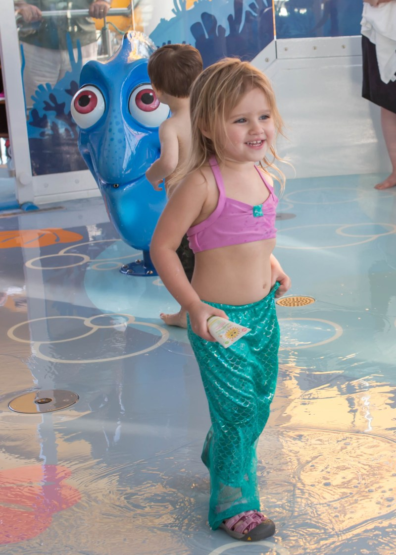 Disney Social Media Moms Celebration 2017: toddler girl mermaid bathing suit