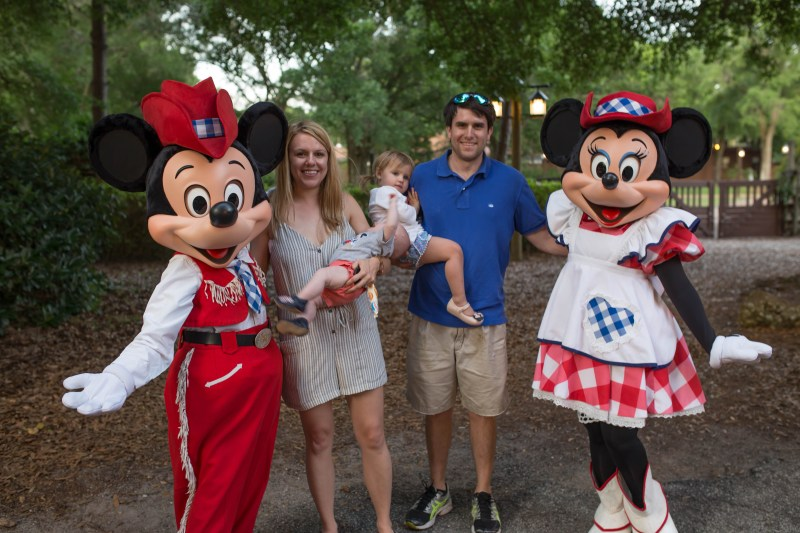best disney world rides with a baby: meet disney characters