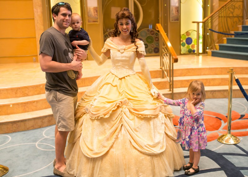 family meeting Belle on Disney Wonder