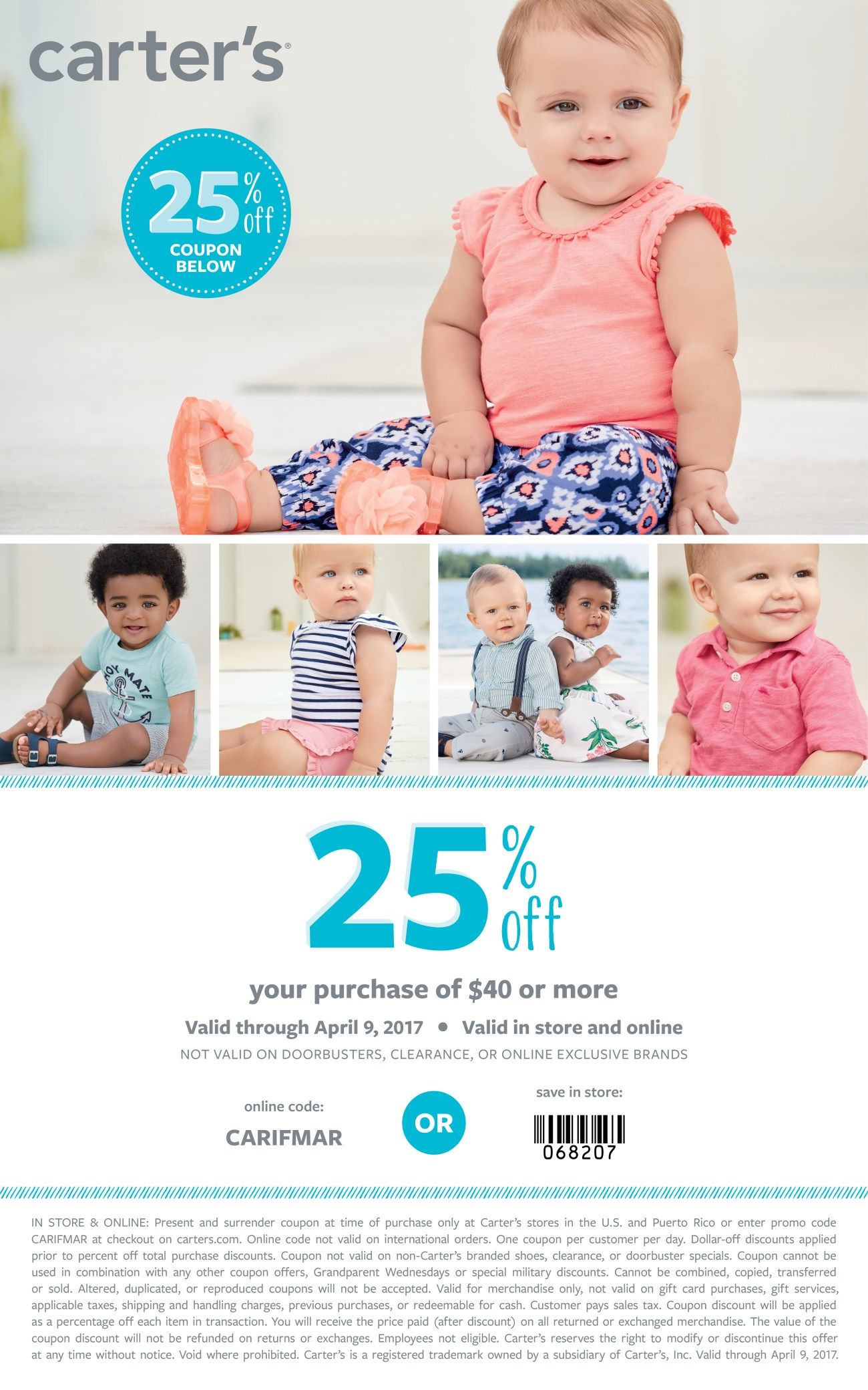 Carter's 25% off coupon