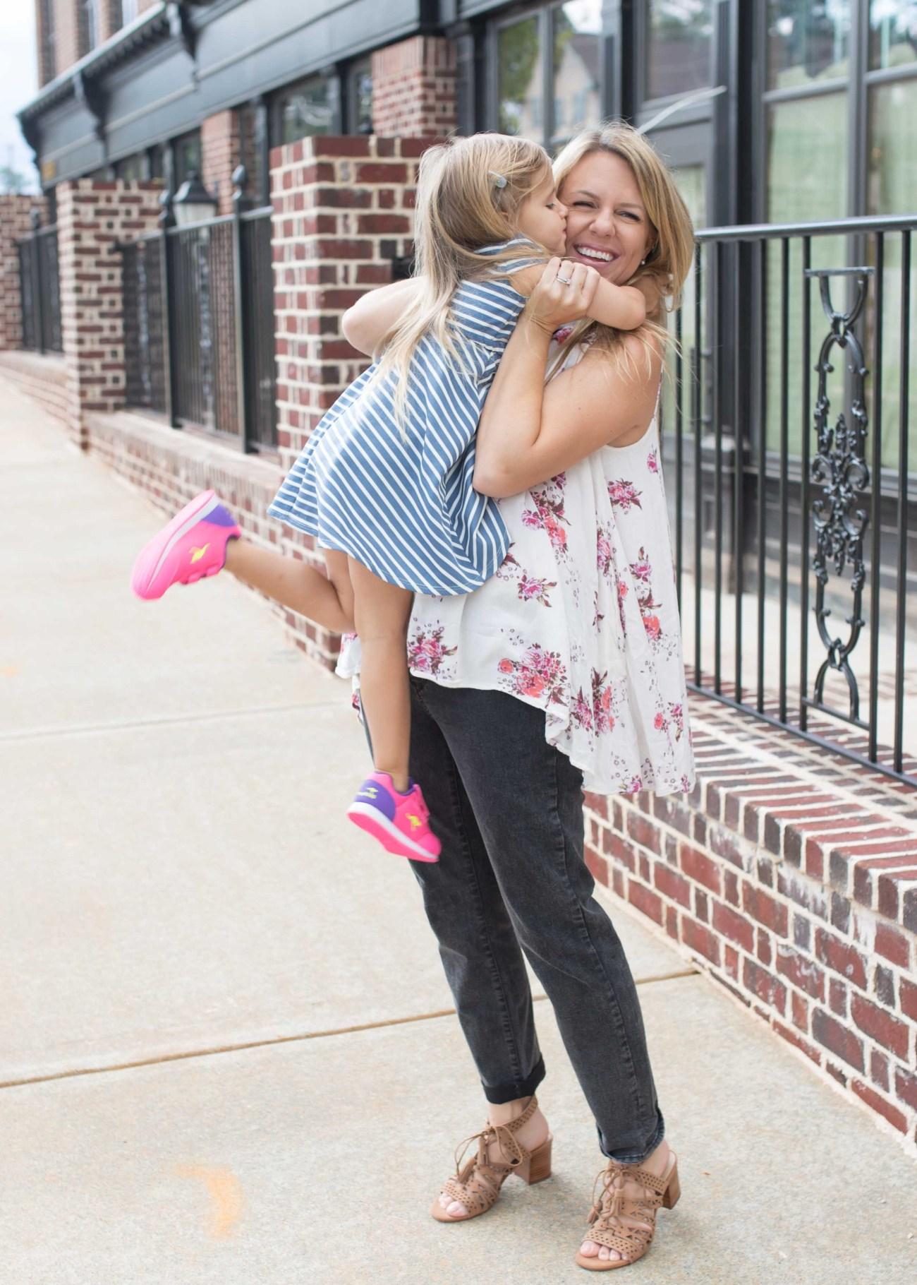 mommy daughter hug