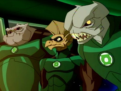Kilowog, Tomar-Re, & Palaqua-Yeah, Mogo Doesn't Socialize!