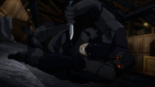 Batman-A Struggle With Black Spider!