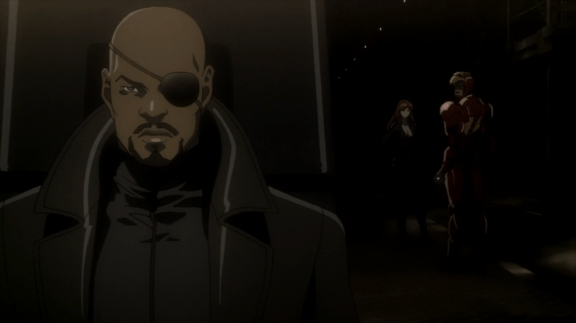 Nick Fury-You're Not Leaving, Stark!