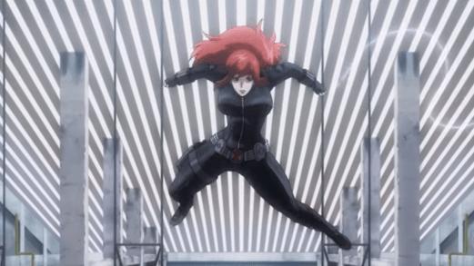 Black Widow-Engaging Adversary!