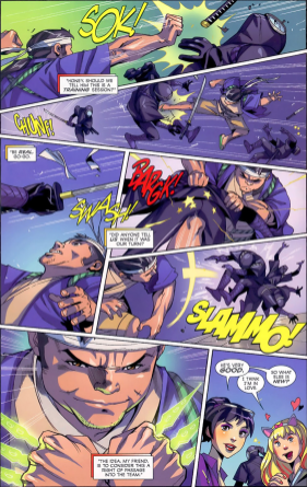 Big Hero 6 #1-Wasabi Knows How To Slice 'N Dice Bad Guys!