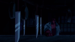 Hellboy-Spinning Knife Dance!