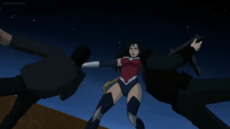 Wonder Woman-Taking Care Of Some Rooftop Business!