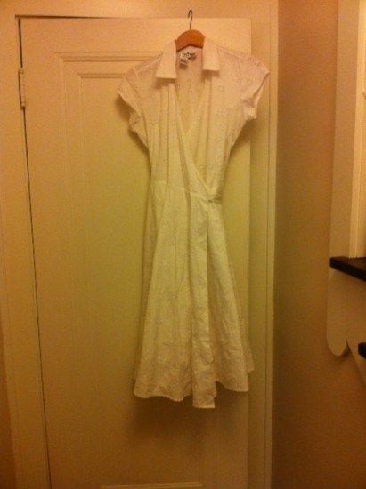 White dress front