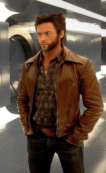 Original Leather Jacket of Hugh Jackman xmen