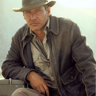Original Leather Jacket of Indiana Jones - Harrison Ford Movie