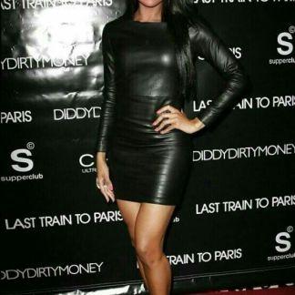 Leather Skirt of Selena Gomez