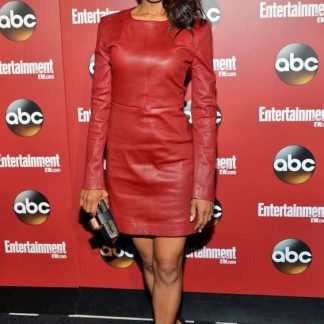 Red Original Leather Skirt of Kerry Washington