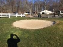 Practice sand bunker.
