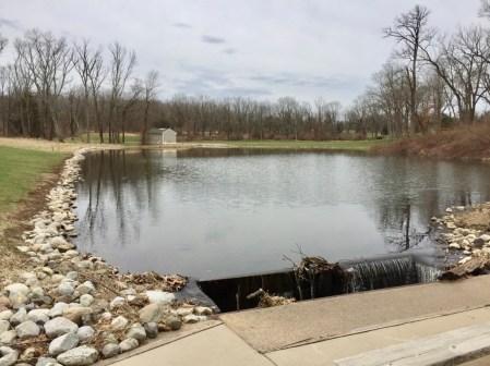 Hole 3 pond