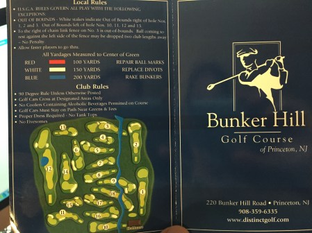 Bunker Hill course layout