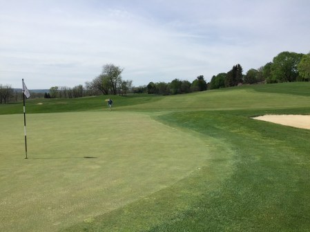 Looking back down the fairway of the 3rd hole.