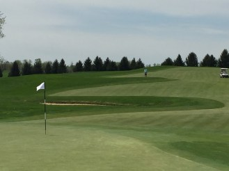 Looking back to the fairway of the 11th hole.