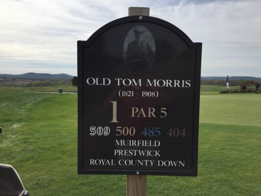 Every hole sign has a picture of the inspiration architects and the hole/course that inspired the hole.