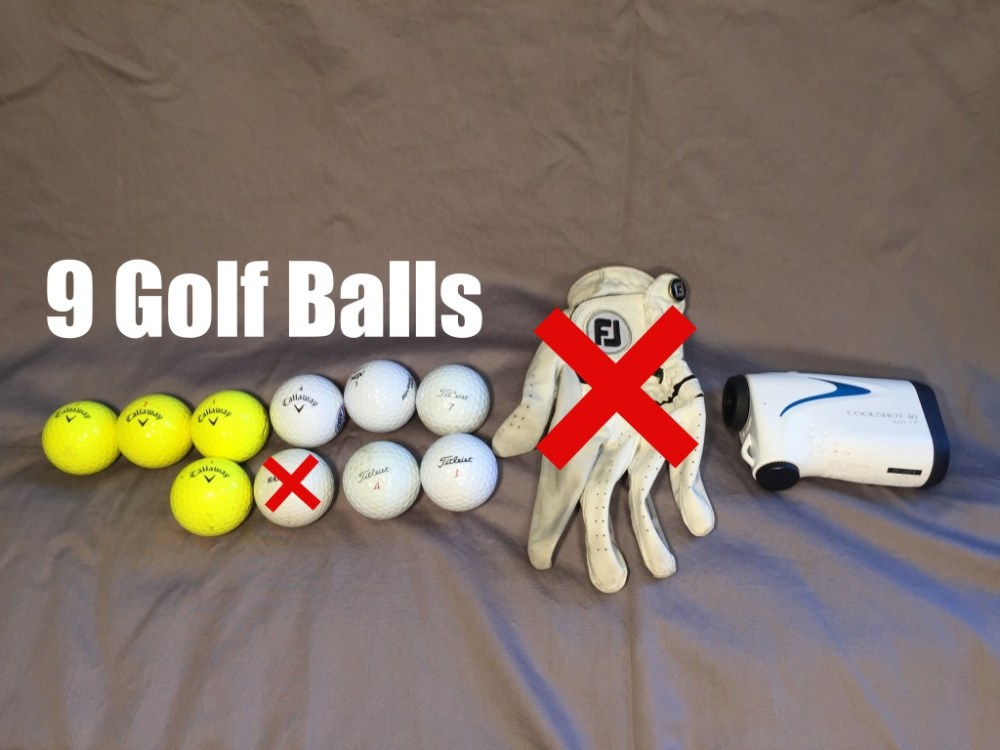 Golf Bag Content - Front Bottom Pocket